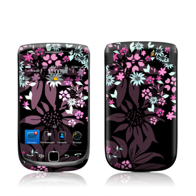 BlackBerry Torch Skin - Dark Flowers