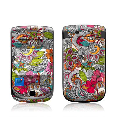 BlackBerry Torch Skin - Doodles Color