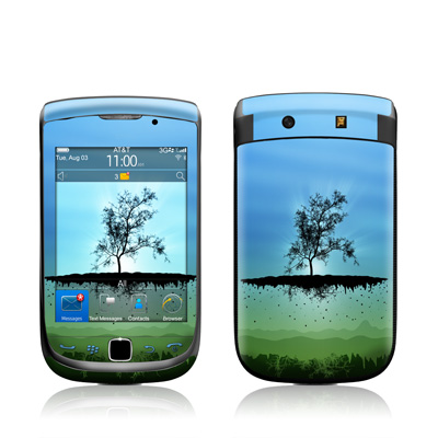 BlackBerry Torch Skin - Flying Tree Blue