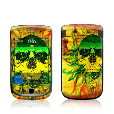 BlackBerry Torch Skin - Hot Tribal Skull