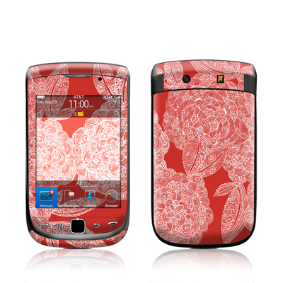 BlackBerry Torch Skin - Red Dahlias