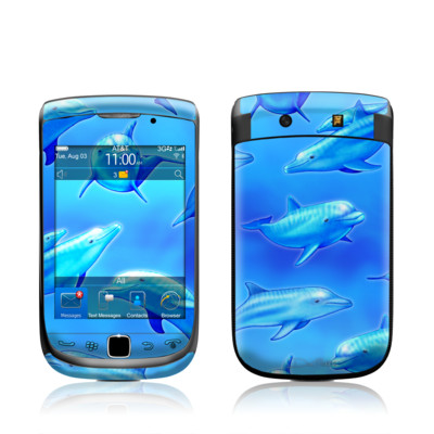 BlackBerry Torch Skin - Swimming Dolphins