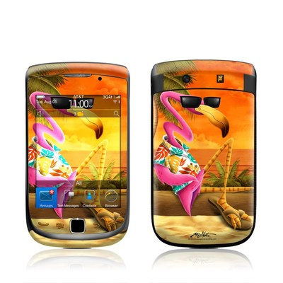 BlackBerry Torch Skin - Sunset Flamingo