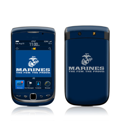 BlackBerry Torch Skin - USMC Blue