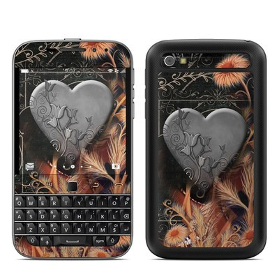 BlackBerry Classic Skin - Black Lace Flower