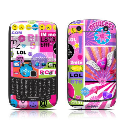 BlackBerry Curve 9300 Series Skin - BFF Girl Talk