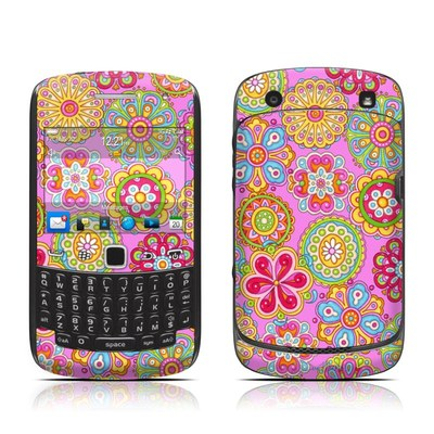 BlackBerry Curve 9300 Series Skin - Bright Flowers