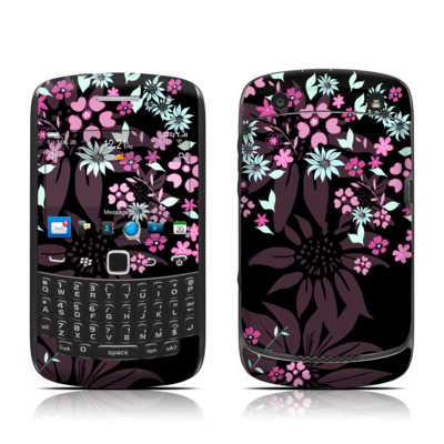 BlackBerry Curve 9300 Series Skin - Dark Flowers