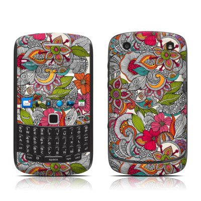 BlackBerry Curve 9300 Series Skin - Doodles Color