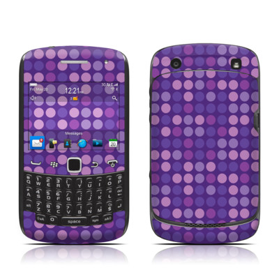 BlackBerry Curve 9300 Series Skin - Dots Purple