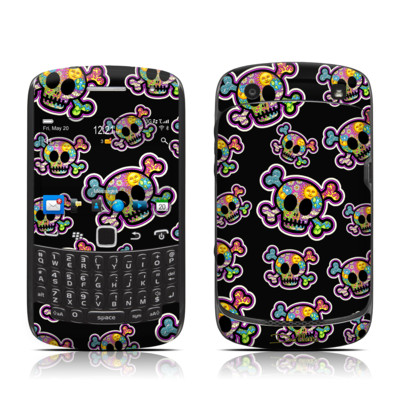 BlackBerry Curve 9300 Series Skin - Peace Skulls