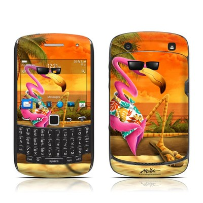 BlackBerry Curve 9300 Series Skin - Sunset Flamingo