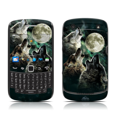 BlackBerry Curve 9300 Series Skin - Three Wolf Moon
