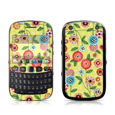 BlackBerry Curve 9320 Skin - Button Flowers