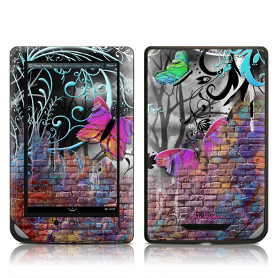 Barnes and Noble NOOKcolor Skin - Butterfly Wall