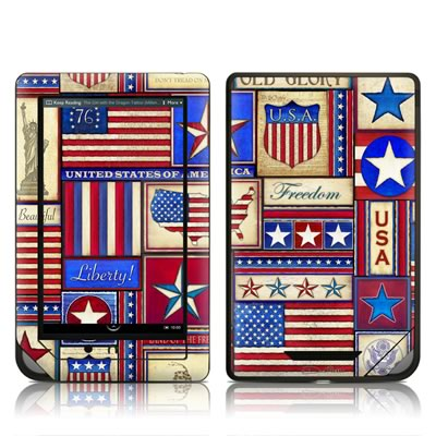Barnes and Noble NOOKcolor Skin - Flag Patchwork