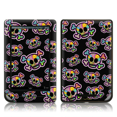 Barnes and Noble NOOKcolor Skin - Peace Skulls