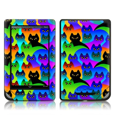 Barnes and Noble NOOKcolor Skin - Rainbow Cats