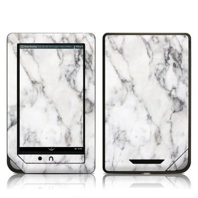 Barnes and Noble NOOKcolor Skin - White Marble