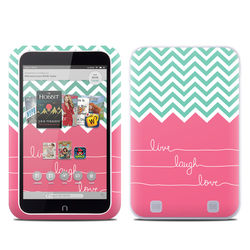 Barnes and Noble NOOK HD Tablet Skin - Live Laugh Love