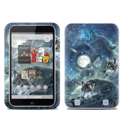 Barnes and Noble NOOK HD Tablet Skin - Bark At The Moon