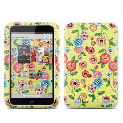 Barnes and Noble NOOK HD Tablet Skin - Button Flowers