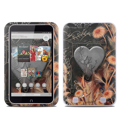 Barnes and Noble NOOK HD Tablet Skin - Black Lace Flower