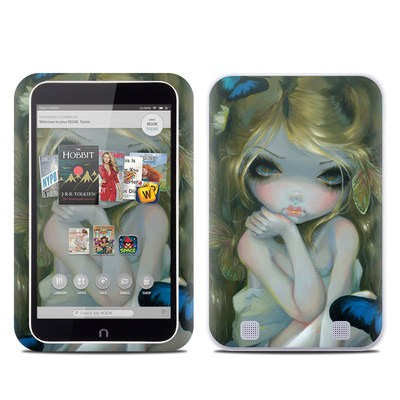 Barnes and Noble NOOK HD Tablet Skin - Butterfly Lily