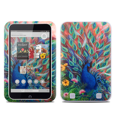 Barnes and Noble NOOK HD Tablet Skin - Coral Peacock