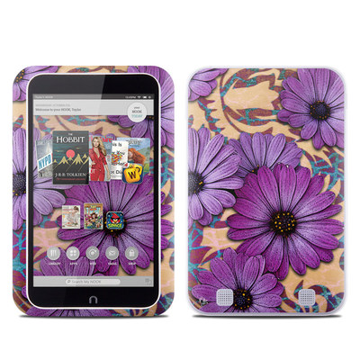 Barnes and Noble NOOK HD Tablet Skin - Daisy Damask
