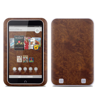 Barnes and Noble NOOK HD Tablet Skin - Dark Burlwood