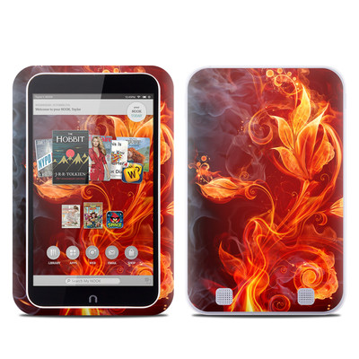 Barnes and Noble NOOK HD Tablet Skin - Flower Of Fire
