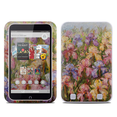 Barnes and Noble NOOK HD Tablet Skin - Field Of Irises