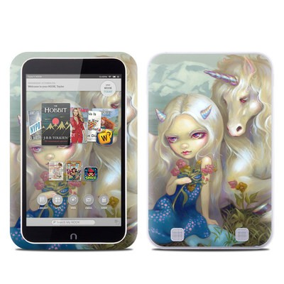 Barnes and Noble NOOK HD Tablet Skin - Fiona Unicorn