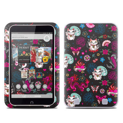 Barnes and Noble NOOK HD Tablet Skin - Geisha Kitty