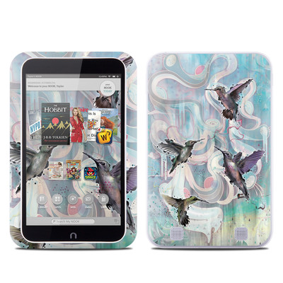 Barnes and Noble NOOK HD Tablet Skin - Hummingbirds