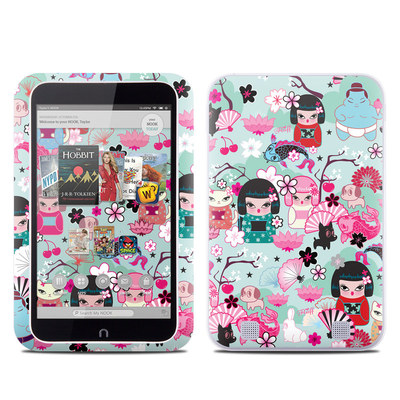 Barnes and Noble NOOK HD Tablet Skin - Kimono Cuties