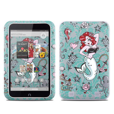 Barnes and Noble NOOK HD Tablet Skin - Molly Mermaid