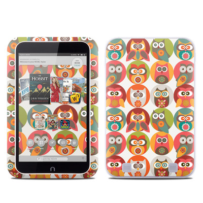 Barnes and Noble NOOK HD Tablet Skin - Owls Family