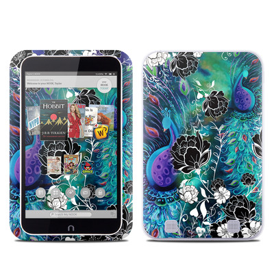 Barnes and Noble NOOK HD Tablet Skin - Peacock Garden