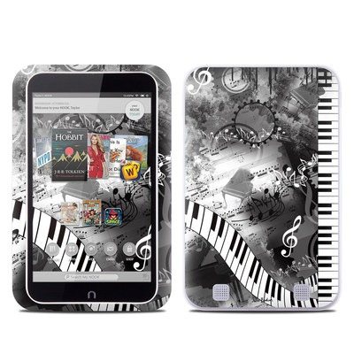 Barnes and Noble NOOK HD Tablet Skin - Piano Pizazz