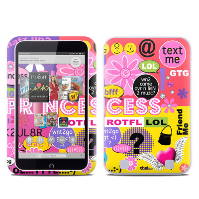 Barnes and Noble NOOK HD Tablet Skin - Princess Text Me