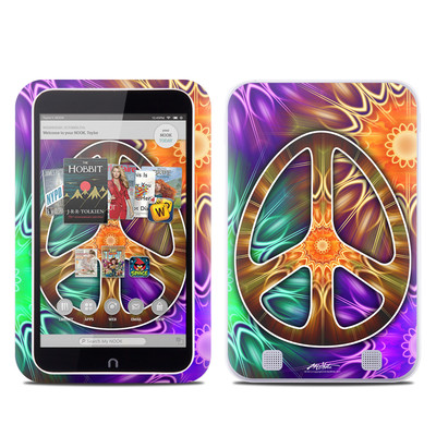 Barnes and Noble NOOK HD Tablet Skin - Peace Triptik