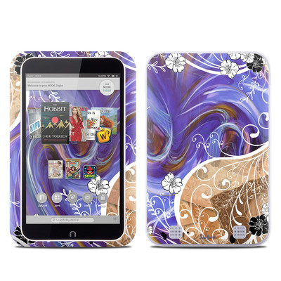 Barnes and Noble NOOK HD Tablet Skin - Purple Waves