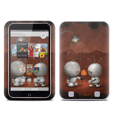 Barnes and Noble NOOK HD Tablet Skin - Robots In Love