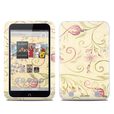 Barnes and Noble NOOK HD Tablet Skin - Tulip Scroll