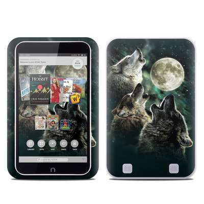Barnes and Noble NOOK HD Tablet Skin - Three Wolf Moon