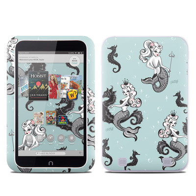 Barnes and Noble NOOK HD Tablet Skin - Vintage Mermaid