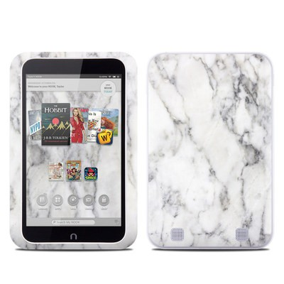 Barnes and Noble NOOK HD Tablet Skin - White Marble