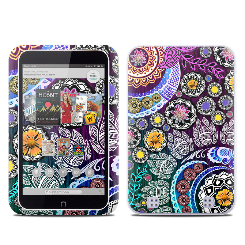 Barnes And Noble Nook Hd Tablet Skin Mehndi Garden By